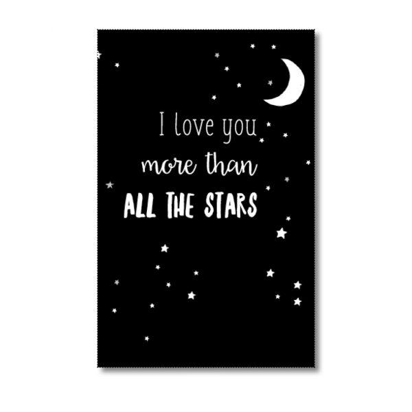 mini-kaartje i love you more than all the stars