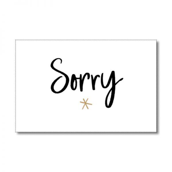 sorry cadeaulabel
