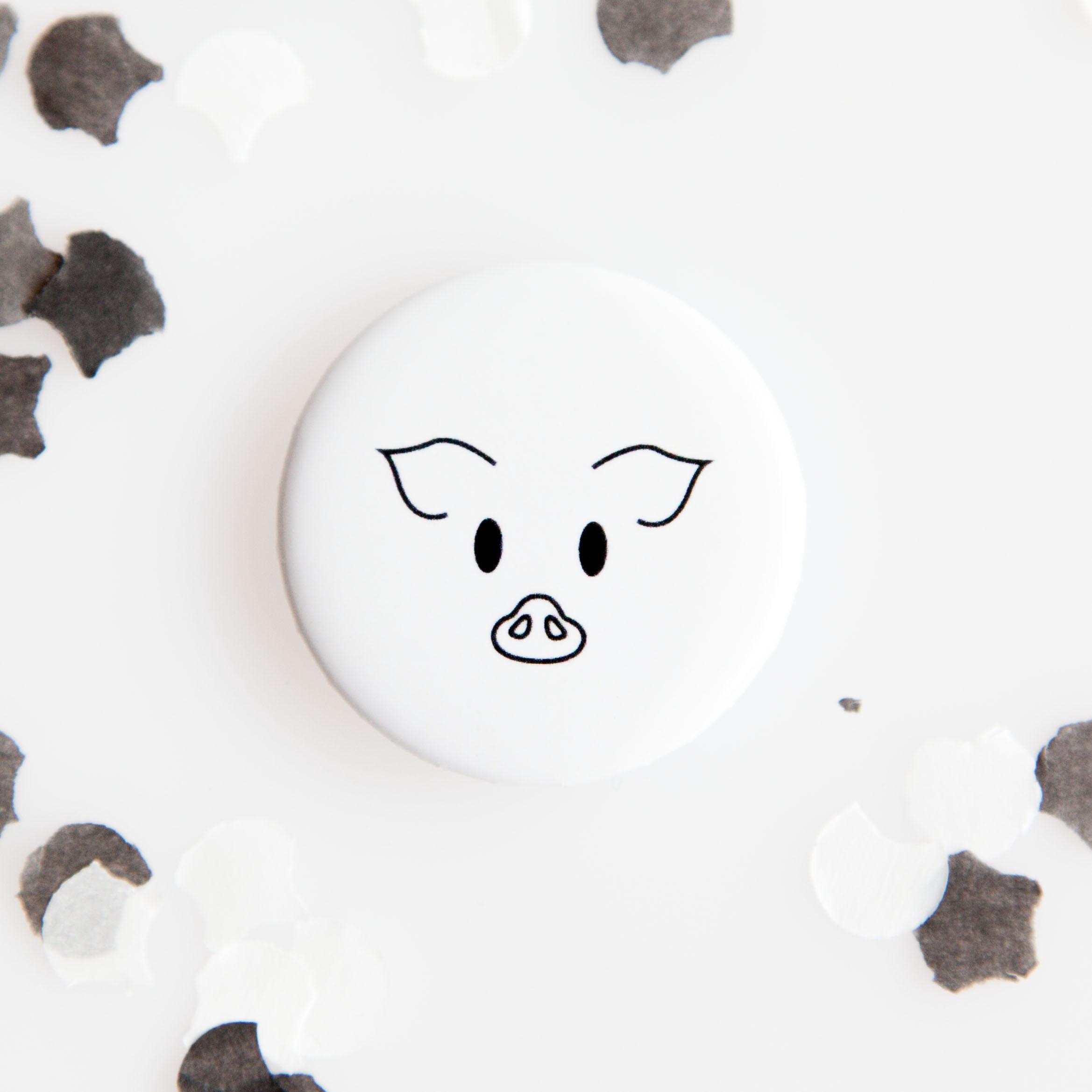 Farm Pig Button