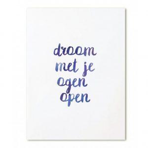 zoedt-kaart-droom-met-je-ogen-open