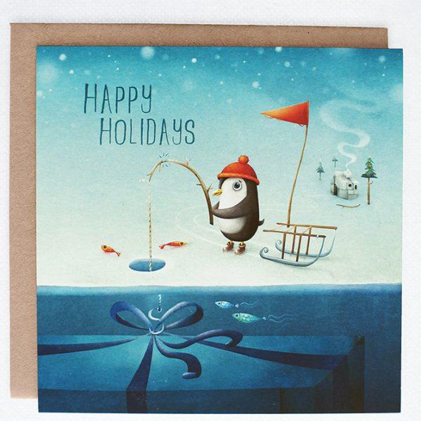 Lea-illustraties-kerst-kaart-happy-holidays