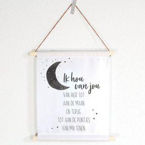 miekinvorm-textielposter-ik-hou-van-jou-tot-aan-de-maan-en-terug