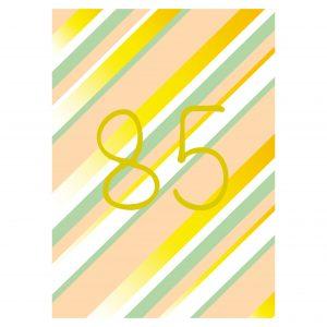 Getalkaart-85-verjaardagskaart-verjaardag