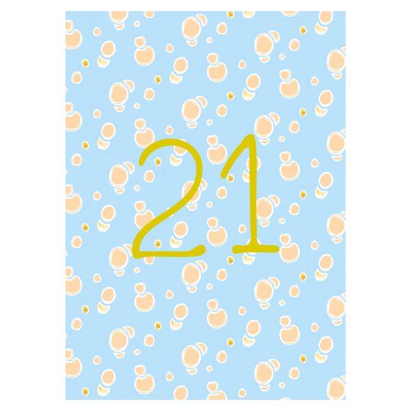Getalkaart-21-verjaardagskaart-verjaardag