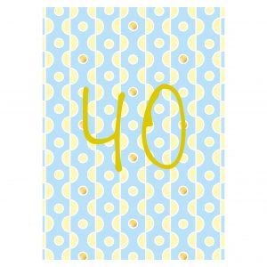 Getalkaart-40-verjaardagskaart-verjaardag