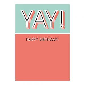 house-of-products-wenskaart-verjaardag-yay-happy-birthday