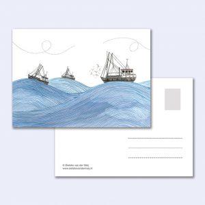 sietske-van-der-meij-kaart-vissersbootjes-zee