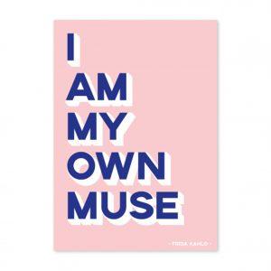 studio-intkvis-postkaart-i-am-my-own-muse-frida-kahlo