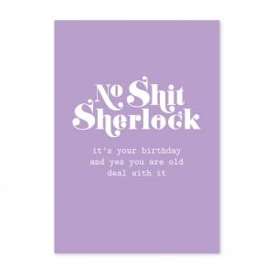 studio-inktvis-postkaart-no-shit-sherlock-birthday