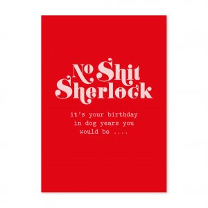 studio-inktvis-postkaart-no-shit-sherlock-birthday-dog-years