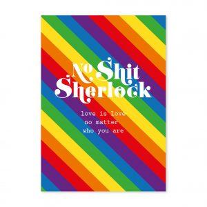 studio-inktvis-postkaart-no-shit-sherlock-love-is-love