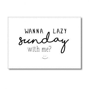 miekinvorm-kaart-wanna-lazy-sunday-with-me