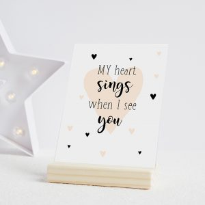 miekinvorm-kaart-my-heart-sings-when-i-see-you