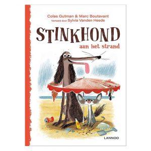 stinkhond-aan-het-strand-lannoo