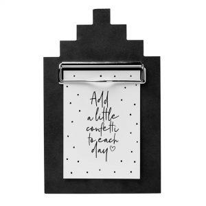 houten-klembord-A6-huisje-trapgevel-zwart-zoedt