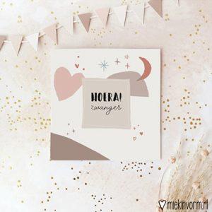hoera-zwanger-dubbele-ansichtkaart
