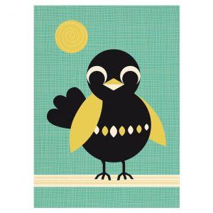 mis-honney-bird-poster-zwarte-vogel