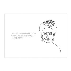 frida-kahlo-kaart-inspiring-women